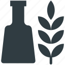 barley, bottle, malt, malt beverage, malt drink icon