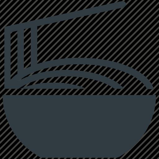 bowl, chopsticks, noodles, spaghetti, vermicelli icon