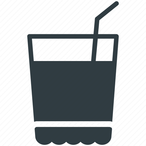 beverage, drink, glass, juice, soda, water icon