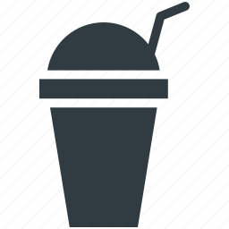 disposable cup, juice cup, paper cup, smoothie cup, straw cup icon