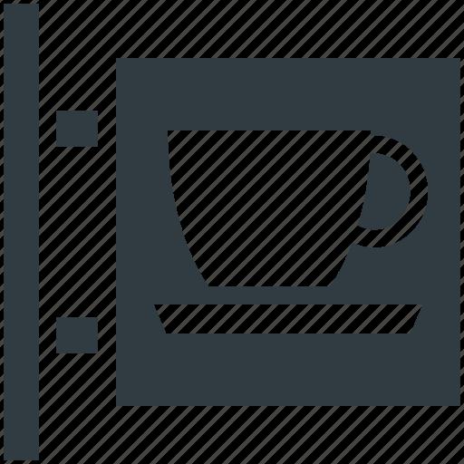 cafe, coffeehouse, coffeeshop, coffeeshop signboard, signboard icon