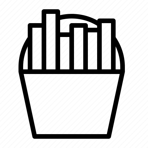 chips, fast, food, fries, ios, junk, takeaway icon