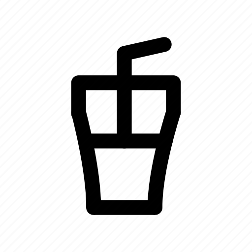 drink, glass, juice, straw, water icon