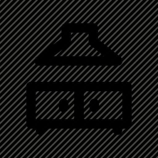 cabinet, chimney, cooking, kitchen, range icon
