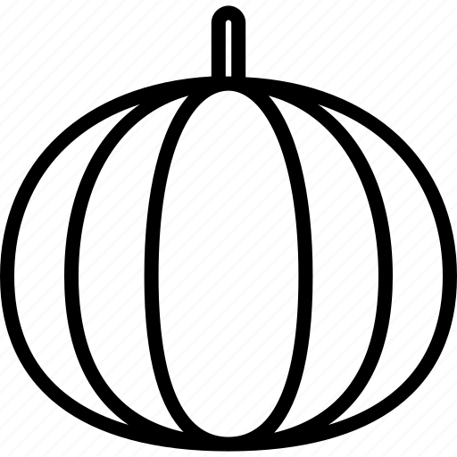 food, fruit, line, pumpkin, watermelon icon