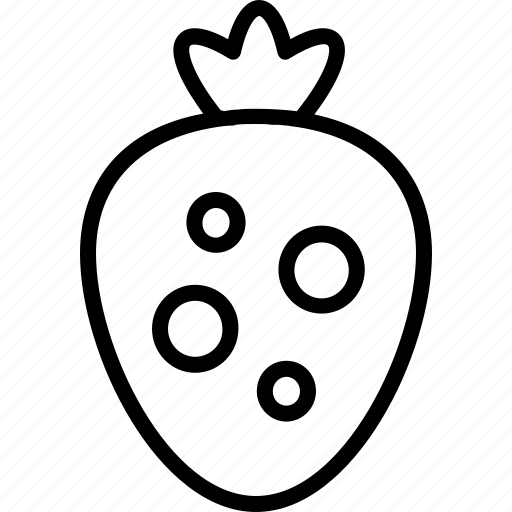 food, fruit, line, stawberries, stawberry icon