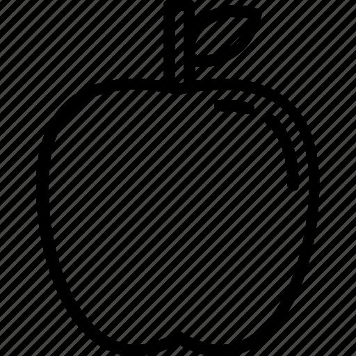 apple, apple juice, food, fruit, line icon