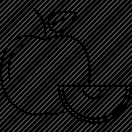 apple, cooking, food, fruit, shop, supermarket icon