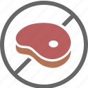 beef, diet, dietary, free, label, meat, pork icon