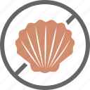 allergy, dietary, fish, label, shell, shellfish icon