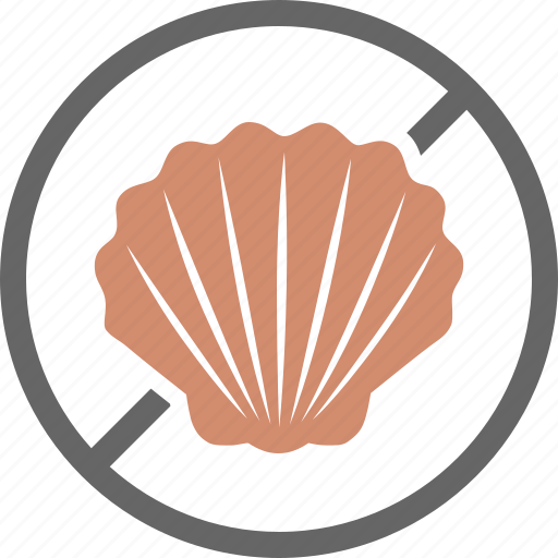 allergy, dietary, fish, free, label, shell, shellfish icon