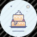 birthday, cake, fun, newyear, party, bake, food