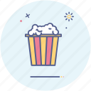food, movie, popcorn icon