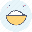 bowl, cooking, curd, rice icon