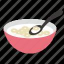 breakfast, cereales, milk icon