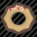 chocolate, chocolate glazed donut, donut icon