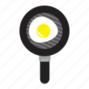 egg, fried egg, fry pan icon