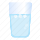 glass, ice, water icon