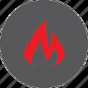 fire, hot