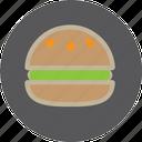 fast, food, ham, humbager