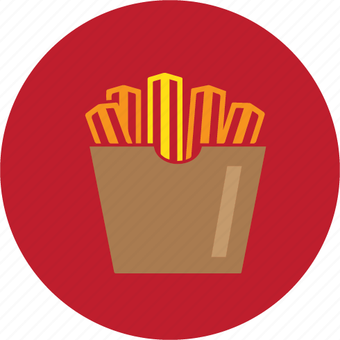 chips, fries, junk icon