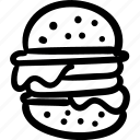 bread, burger, food, icons, new, sketch icon