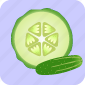 cucumber, fruit, pizza, slice, vegetable, vegetables icon