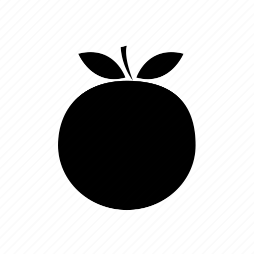 fresh orange, fruit, orange, orange fruit, orange with leaves icon