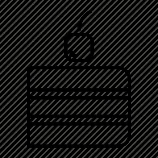 cake, cake slice, cherry, food, slice icon