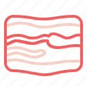 bacon, meat, pig icon