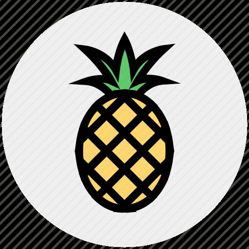 ananas, food, fruit, pineapple, pineapple juice, sweet, tropical icon