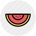 fruit, fruit slice, piece, seeds, tropical, watermelon icon
