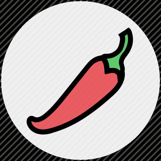 chili, chili pepper, food, pepper, red chili, seasoning, spicy icon