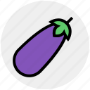 brinjal, delicious, eggplant, food, vegetables icon