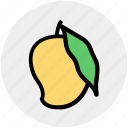 dessert, food, fruit, fruits, juicy, mango, mango fruit icon