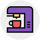 coffee, coffee machine, coffee maker, electronics, espresso, kitchen, machine icon