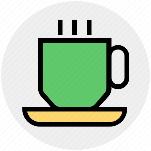 coffee, cup, drink, hot, hot coffee, plate, tea icon