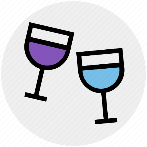 beer, drink, glass, juice, water, water glass, wine icon