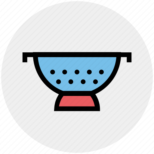 colander, food drainer, food strainer, kitchen, kitchen sieve, rice strainer, sieve icon