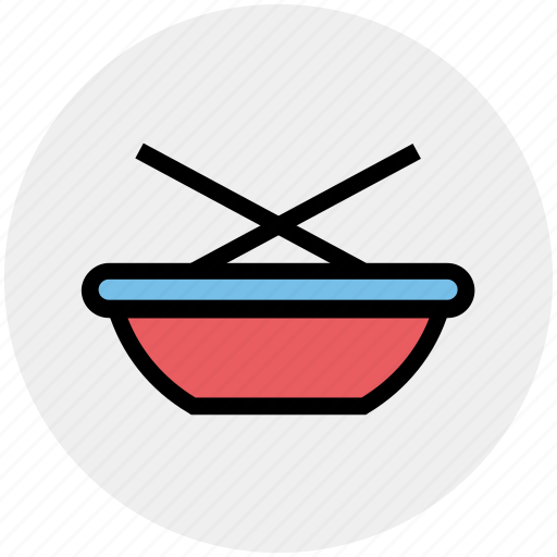 bowl, bowl and stick, bowl and sticks, chinese, food, soup, sticks icon