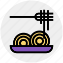 chinese, chinese food, eating, food, noodles, plate, sticks icon