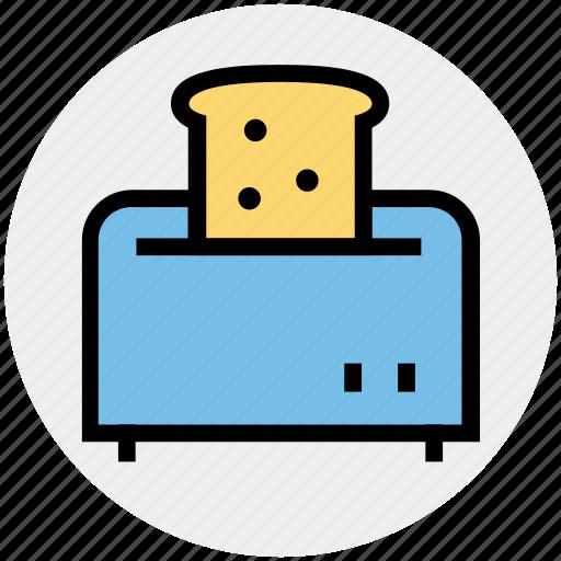 kitchen appliance, kitchen electrical, toast, toast machine, toaster icon
