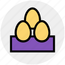 breakfast, easter, egg, eggs, food, gastronomy, spring icon