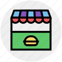 building, food, food market, kiosk, market, shop, store icon