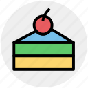 cake, cake piece, cake slice, dessert, food, fresh cake, sweet icon