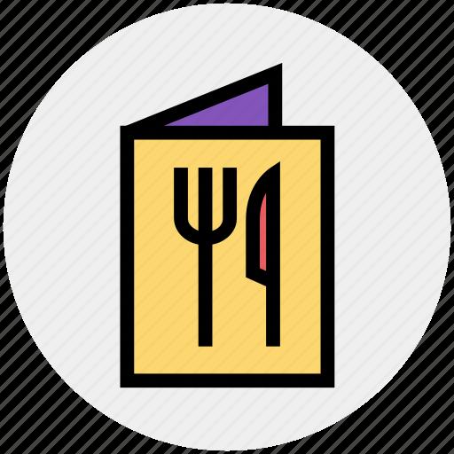 food, fork, fork and knife, kitchen, knife, menu, restaurant icon