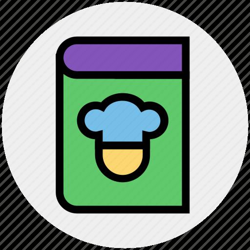 book, chef book, cook, kitchen, recipe, recipe book icon