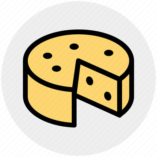 breakfast, cheese, eat, edam, food, swiss icon