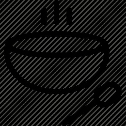 bowl, hot, soop, spoon icon