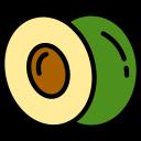 avocado, fruit, sumie icon icon